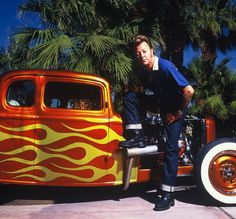 Another of Brian Setzer and his sweet rod.