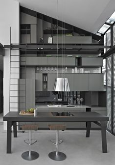 modern home design interior image Impressive Interior Design So Beautiful, I could sit there for hours. Grey Interior Design, Beautiful Interior Design, Beautiful Interiors, Modern Interiors, Luxury Interior, Modern Grey Kitchen, Minimal Kitchen, Stylish Kitchen, Cuisines Design