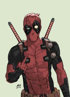 dead pool middle finger by dave seguinMechanika