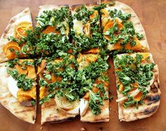 Sweet Potato, Smoked Mozzarella and Kale Grilled Pizza