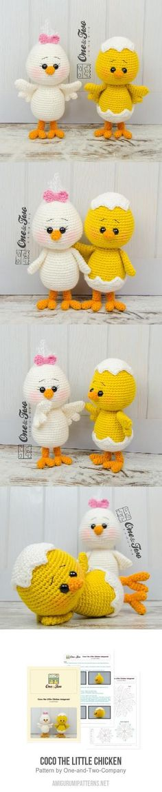 Coco The Little Chicken Amigurumi Pattern
