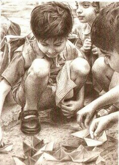 The essence of childhood... endless play...  #Creative #Art #Sketching @Touchtalent.com