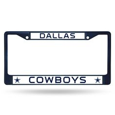 Dallas Cowboys Metal License Plate Frame - Navy