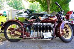 The 1930 Henderson Inline 6 Cylinder The Henderson Motorcycle Co started out in… Antique Motorcycles, American Motorcycles, Indian Motorcycles, Harley Davidson, Henderson Motorcycle, Motos Retro, Motorcycle Engine, Motorcycle Posters, Old Bikes