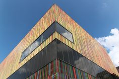 17th of August - (Munich) :  Modern art gallery shaped colourful and futuristic from outside