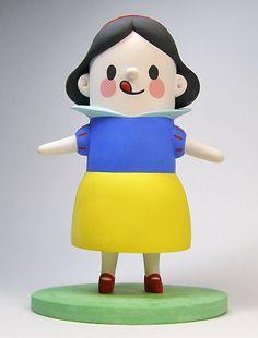 snow white, polymerclay