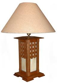 Arts and Crafts Lamp Woodworking Plan, Gifts & Decorations Lighting