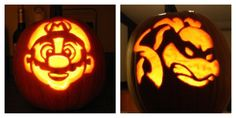Mario and Ninja turtle pumpkin I did #mario #ninjaturtles #halloween #pumpkins #pumpkincarving