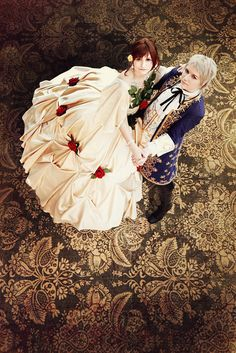 Hetalia: dance by *Amapolchen on deviantART Prussia and Hungary.> I ship AusHun, but this is a beautiful cosplay. Epic Cosplay, Awesome Cosplay, Anime Cosplay, Hetalia Cosplay, Latin Hetalia, Axis Powers, Beauty And The Beast, Fan Art, Dance