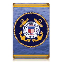 Classic United States Coast Guard Insignia Metal Sign adds unique decor to your home or business. Every US Coast Guard Military collector would love this unusual gift. All United States Coast Guard Insignia Tin Signs are pre-drilled and ready to hang.