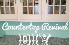 DIY Countertop Revival... with Contact Paper! This just might be a good temporary fix for our oh-so-ugly counter top.