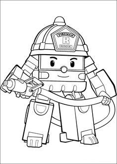 Dibujos para Colorear Robocar Poly 18