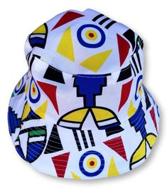 Ndebele Reversible Bucket Hat Size : 35 cm x 21 cm Weight : 50 g Washable : Yes Fabric : Cotton Hand Made Hat Sizes, Bucket Hat, Hats, Fabric, Cotton, Handmade, Tejido, Tela, Hand Made