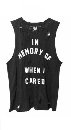03f997e06 In memory of when I cared, ripped up shirt 90s Workout Clothes, Soft Grunge