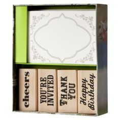 I need this!!!!!!   Stationery Me This: Privet House at Target Stamp & Card Set