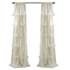 Nerina Curtain Panel in Light Aqua at Joss and Main Curtain Shop, Curtain Call, Curtain Panels, Classic Curtains, Fru Fru, Shabby Chic Bedrooms, Aqua Bedrooms, Girl Bedrooms, Big Girl Rooms