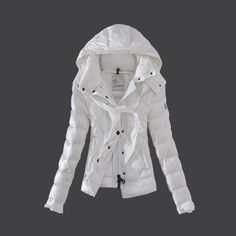 Moncler Fashion Leisure Womens Down Jackets White Jackets For Women 448e65a4c447