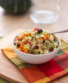 Fall Quinoa Salad with Apple Cider Vinaigrette by Eat Spin Run Repeat