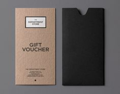 Gift Voucher by Brogen Averill for The Department Store http://thingwebsite.com/#cat_5