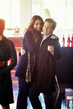 Stana Katic and Seamus Dever