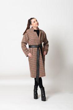 The Urban Camou' Coat Black Wool, Black Leather, Wool Suit, Feel Like, Looks Great, Sunday, How Are You Feeling, Feminine, Urban