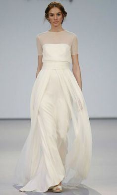 simple but elegant satin wedding dresses makes your bridal dream comes true Image via: HERE Beach Wedding Dresses Perfect For A Destination Wedding, simple wedding dress ,thin straps wedding gown weddingdress wedding. Dresses Elegant, Elegant Wedding Dress, Beautiful Dresses, Wedding Gowns, Wedding Ceremony, Wedding Outfits, Simple Dresses, High Neck Wedding Dresses, Simple White Dress
