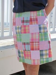 "This Plaid Madras Skirt is adorable! It looks like it came out of ""The Official Preppy Handbook!"""