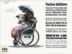 """Résultat de recherche d'images pour """"poster vegan vache lait"""""""