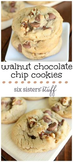 Walnut Chocolate Chip Cookies from Six Sisters' Stuff are delicious!