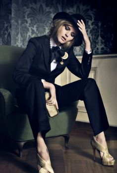 """""""Vogue"""" I love the look of women in suits. I can't pull off this look myself, but I think it's positively fabulous."""