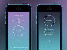 Sleep tracker app - by Rich Smith | #ui