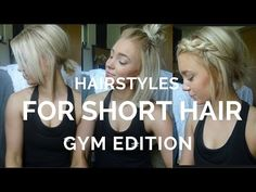 12 EASY HAIRSTYLES FOR SHORT HAIR ♡ - YouTube