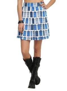 Doctor Who Her Universe TARDIS Skirt | Hot Topic // currently on sale for $18.38, sizes up to 3X.