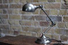VINTAGE INDUSTRIAL ANTIQUE PHARMACY DESIGN TABLE DESK LAMP METAL LIGHT, 44cm