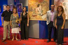 Con mi familia y el pintor Martigodi, junto una de sus magníficas obras.