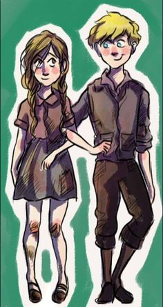 Rudy and Liesel!! The Book Theif!!
