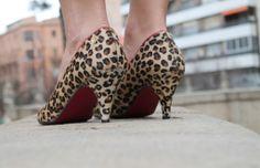 Cuplé leopard kitten heels