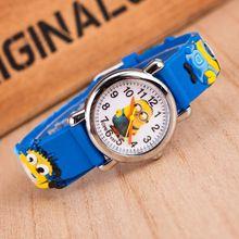 Cutely Cartoon montres pour enfants enfants garçons filles Minion montre Casual Silicone Quartz montre - bracelet Relogio horloge Relojes Mujer(China (Mainland))