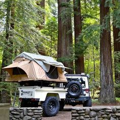 Manley ORV Trailer and a Jeep JK