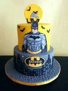 Batman cake - cake by Suzi Suzka Batman Birthday Cakes, Batman Party, Lego Batman Cakes, Minion Cakes, Lego Cake, One Direction Cakes, Easy Minecraft Cake, Fantasy Cake, Superhero Cake