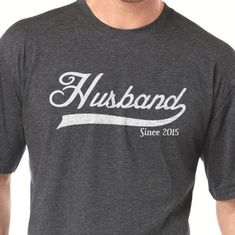 2e03d4c5 Husband Since 2015 Mens T shirt Husband Gift Father's Day Gift Wedding Gift  Tshirt Dad Gift Groom T-shirt Cool Shirt