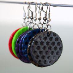 Puntíky stříbrné Fimo korálek o průměru 2,8 cm. Sada s náhrdelníkem a prstýnkem. - polymer by teruberu