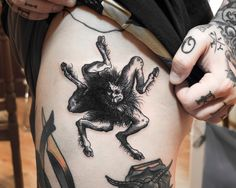 woodcut tattoo of the demon Buer - Ien Levin