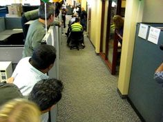 Office Chair Rowing Race - Day 2