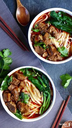 Spicy beef noodle soup (香辣牛肉面) | Red House Spice