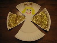 Ramblings of a Crazy Woman: Paper Plate Angels Bible Crafts For Kids, Christmas Crafts For Toddlers, Preschool Christmas, Christmas Activities, Toddler Crafts, Kids Christmas, Holiday Crafts, Winter Activities, Christmas Angels