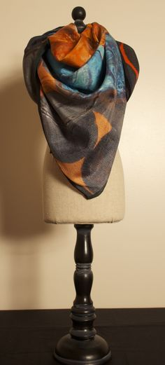 Buddha unchained scarf made from a painting by Chetna Singh