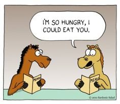 Cartoon: ...could eat a horse! (medium) by sardonic salad tagged horse ...