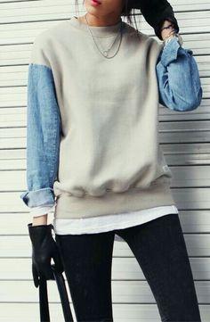 Upcycled sweatshirt