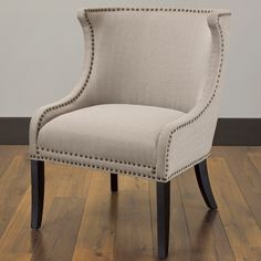 Demi Ritual Linen Accent Wing Chair   Overstock™ Shopping - Great Deals on Living Room Chairs